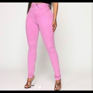Purple High Rise Jeans